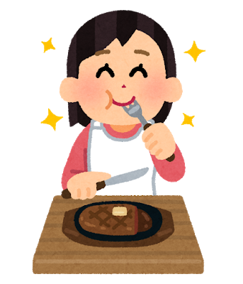 syokuji_steak_woman.png